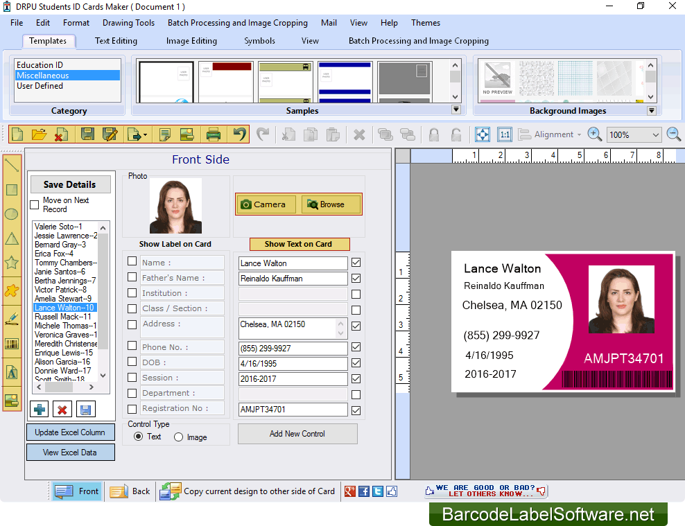Software net School Id Cards Maker For Student Distribution Service Release To Design Photo Online Press Barcodelabelsoftware Introduces Printable -