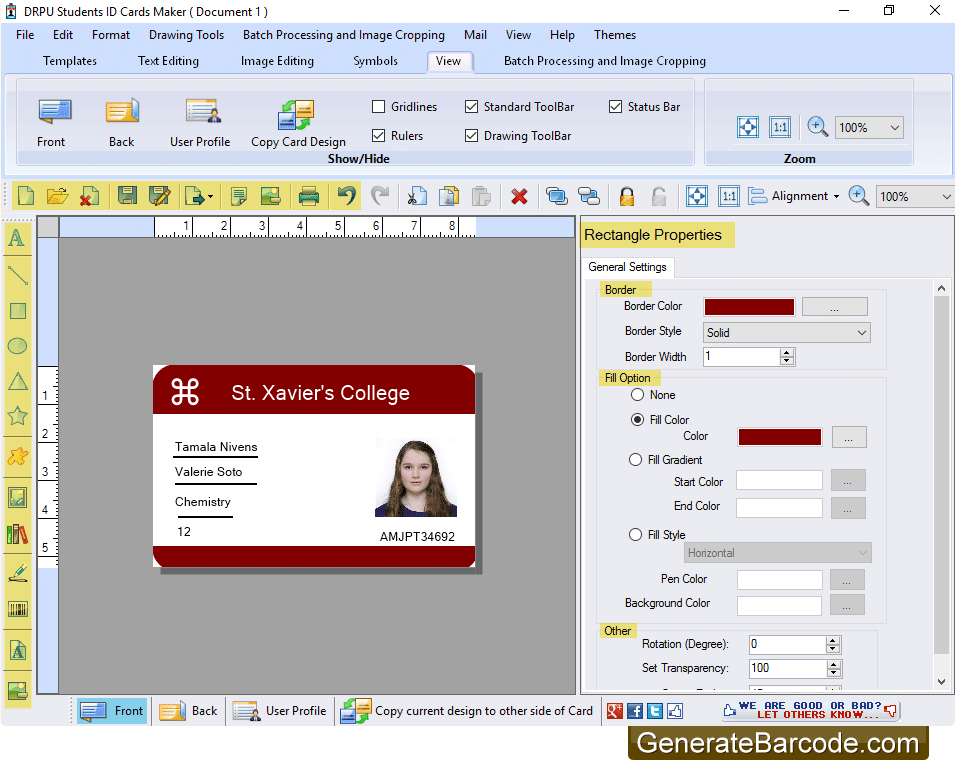 company release school photo id badges maker software to generate