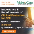 ForPressRelease.com - Webinar on Importance & Requirements of Clinical Evaluation for CER