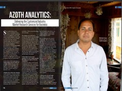 ForPressRelease.com - In an interview with Insights Success, Matloob Hasan, Research Director at Azoth Analytics has highlighted the influences made by his company to take Market research assets to an innovative level