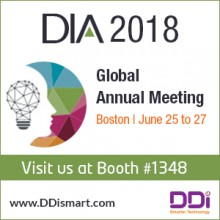 ForPressRelease.com - DDi to Exhibit at the 2018 DIA Global Annual Meeting, June 25-27 in Boston, MA
