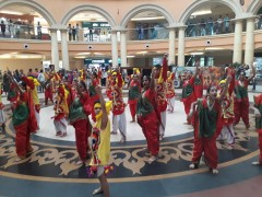 ForPressRelease.com - Students perform flash mob traditional dance from Madhya Pradesh at Growel 101 Mall
