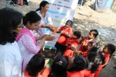 ForPressRelease.com - On Global Hand Washing Day, Slum Children learned the right way to wash hands