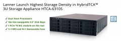 ForPressRelease.com - Lanner Launches HTCA-6310S, Highest Storage Density in HybridTCA™ 3U Storage Appliances