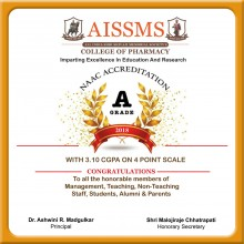 ForPressRelease.com - AISSMS College Of Pharmacy has been awarded A grade by NAAC