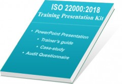 ForPressRelease.com - Certificationconsultancy.com Introduced ISO 22000:2018 Auditor Training PPT Kit
