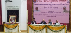 ForPressRelease.com - Responsive and Open Bureaucracy needed for Inclusive Development; 4th M L Mehta Memorial Oration highlights