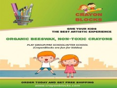 ForPressRelease.com - This new year 2019, Crayon Blocks Announces their new product a bundle of organic beeswax crayons!
