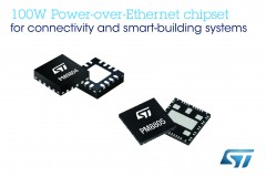 ForPressRelease.com - Advanced Chipset from STMicroelectronics Brings New 100W Power-over-Ethernet Standard to Connectivity and Smart-Building Applications