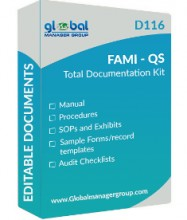 ForPressRelease.com - Global Manager Group has Launched Upgraded FAMI-QS Documentation Kit