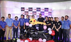 ForPressRelease.com - Ramandeep Singh from Amritsar Wins the 6th Harley Davidson Bike on the Superkeeper Football Attraction at Smaaash Ambience Mall