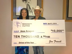 ForPressRelease.com - Jose Aragon has earned National Carriers' Driver of the Year