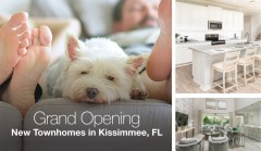 ForPressRelease.com - Taylor Morrison Celebrates the Grand Opening of New Townhome Community in Kissimmee